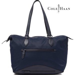 Cole Haan Zerogrand Nylon Leather-Trimmed Tote Bag